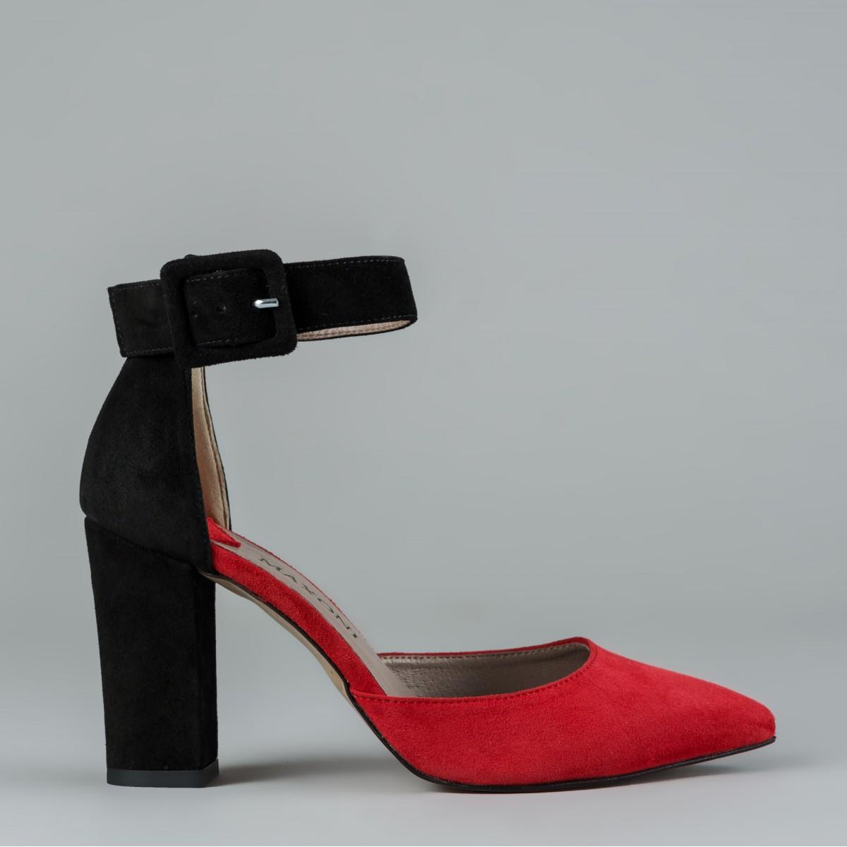 Czarno-czerwone czółenko