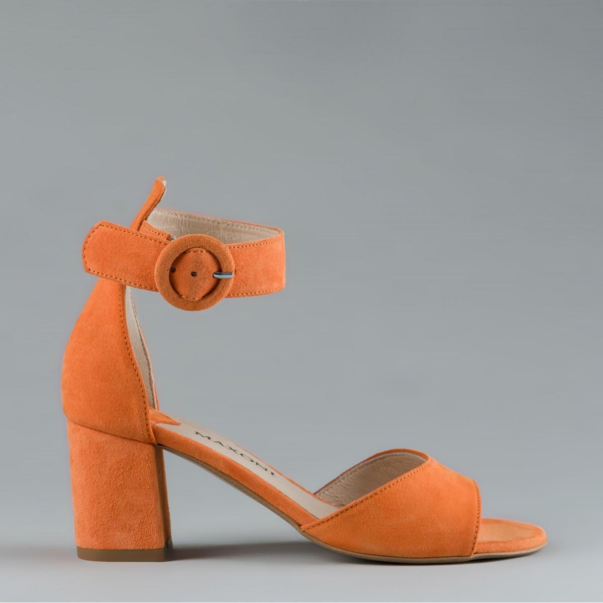 Pomarańczowe sandały