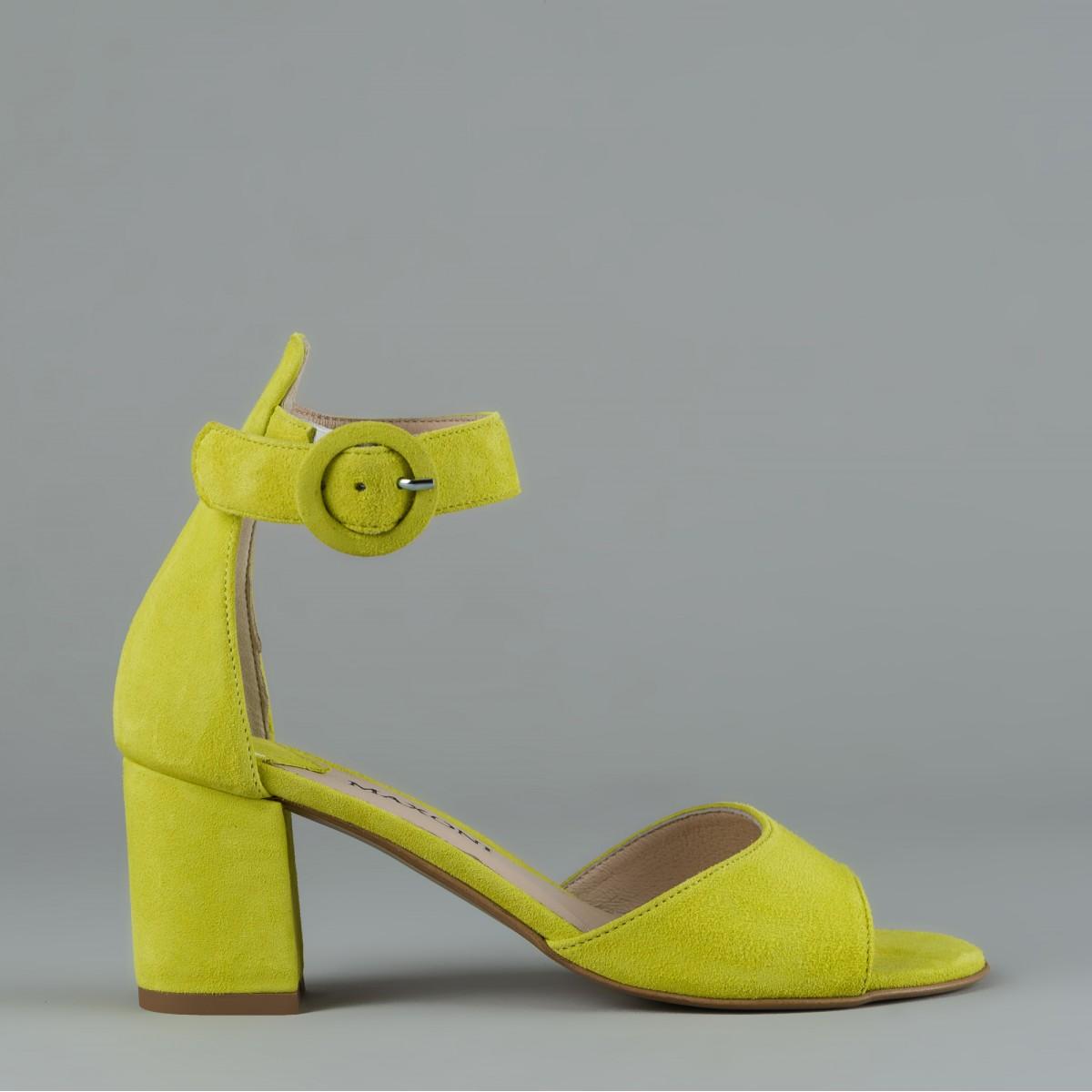 Limonkowe sandały